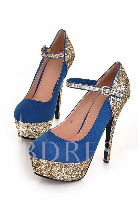 Rhinestone Decorated Stiletto Heels Closed-toe Women's Prom Shoes