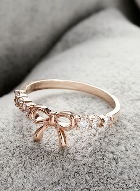 Bow Knot Alloy Ladis' Ring