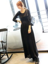 Long Sleeve Pullover Beach Women's Maxi Dress
