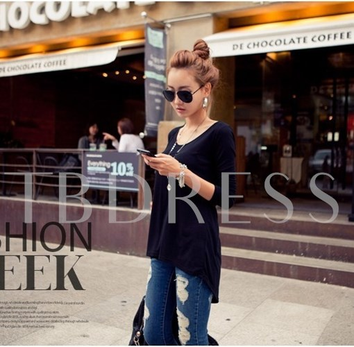 Japanese Style Contrast Color Women's Blouse