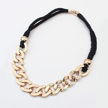 Samrft Exaggeration Link Chain Lady's Rope Chain Necklace
