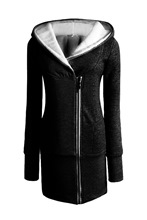Special Design Zipper Warm Women's Hoodie