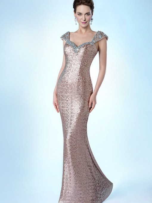 Mermaid Sweetheart Neckline Beading Floor-Length Evening/Prom Dress