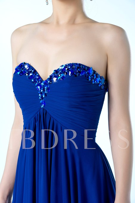 Sweetheart Beading Ruched Bridesmaid Dress