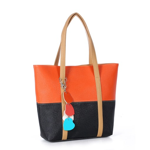 Boutique Split Joint Candy Color Tote Bag