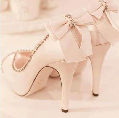 Peep Toe Stiletto Heel Slip-On Bow Wedding Shoes