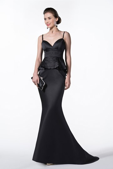 New Straps Trumpet/Mermaid Emboridery Court Train Evening Dress