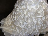 Lace-Up Beading Pick-Ups Ball Gown Wedding Dress