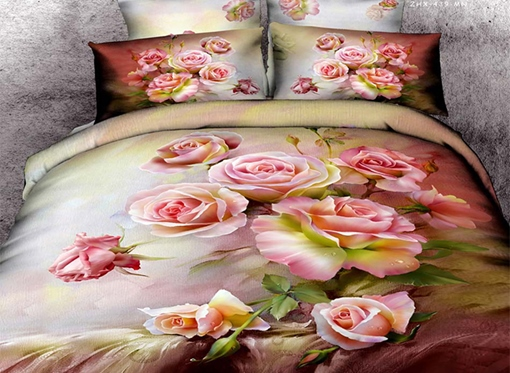 Flower Rose 4-Piece 3D Bedding Sets/Duvet Covers
