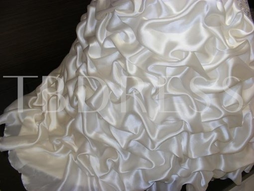 Sweetheart Beading Pick-Ups Ball Gown Wedding Dress
