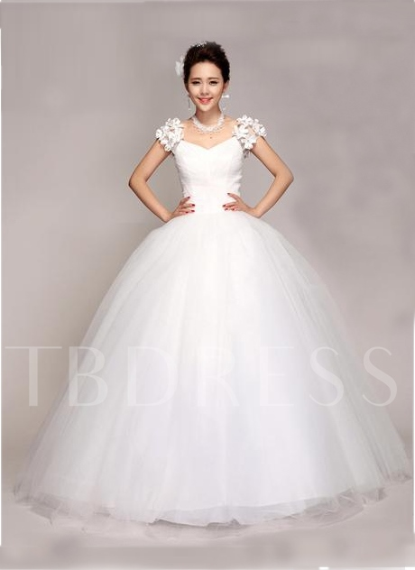 Ball Gown Appliques Wedding Dress