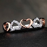 Heart to Heart 950 Pt Silver Ladies Wedding Ring