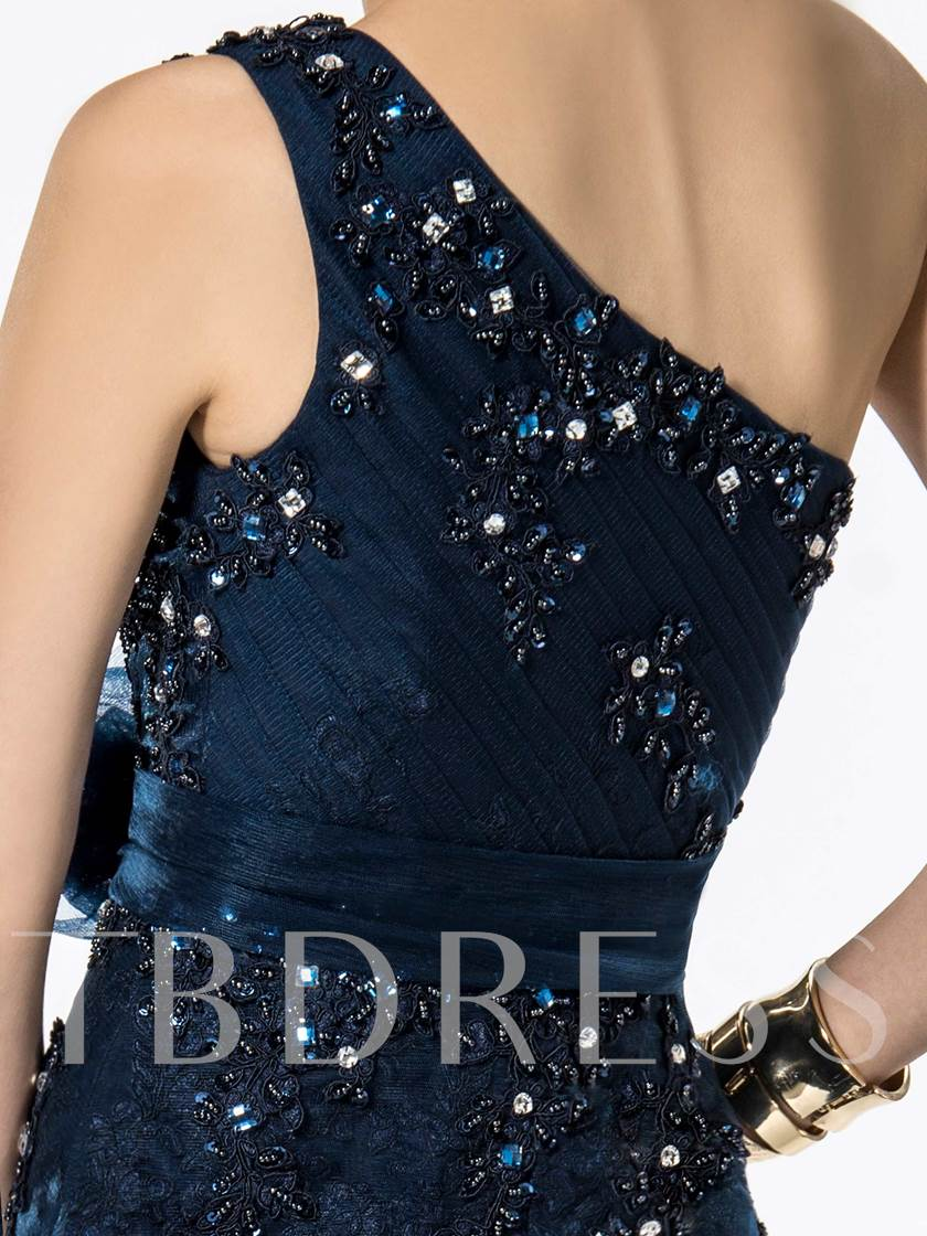 Mermaid Floor-Length One-Shoulder Appliques Evening/Prom Dress