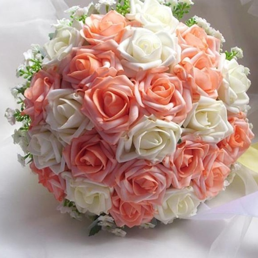 Wedding flowers online cheap wedding bouquets bridal flowers high quality two colors roses wedding bouquet mightylinksfo