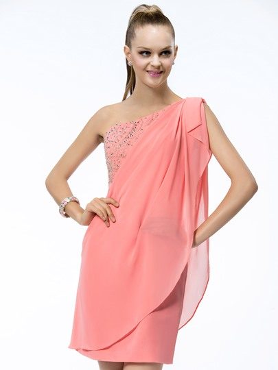 One Shoulder Cocktail Dresses Under 100 Tbdress