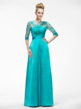 A-Line Half-Sleeve Appliques Mother of the Bride Dress