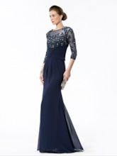Jewel Appliques Sequins Mermaid Evening/Mother Dress