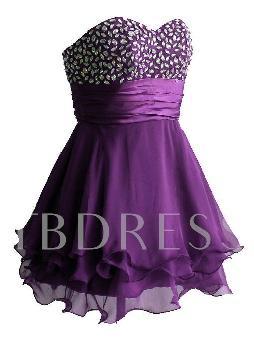 Sweetheart Beading Lace-up Short Prom/Cocktail Dress