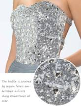 A-Line Sweetheart Beading Sequins Prom Dress Designed Independently
