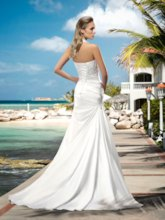 Halter Lace-Up Beading Court Train Wedding Dress