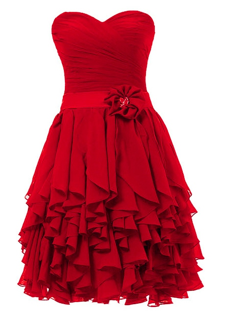 Sweetheart Zipper-Up Short Cocktail/Homecoming Dress