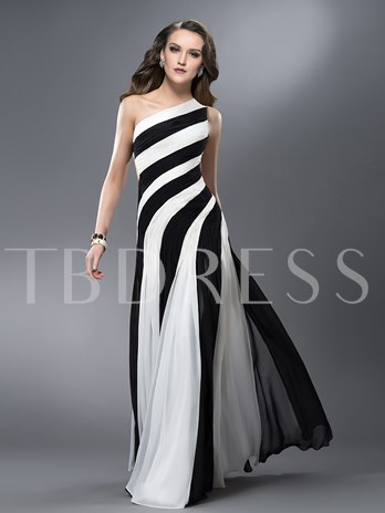Trumpet One-Shoulder Ruched Hollow Out Prom Dress Designed Independently