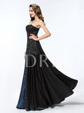 Lace Sweetheart Floor-Length A-Line Evening Dress