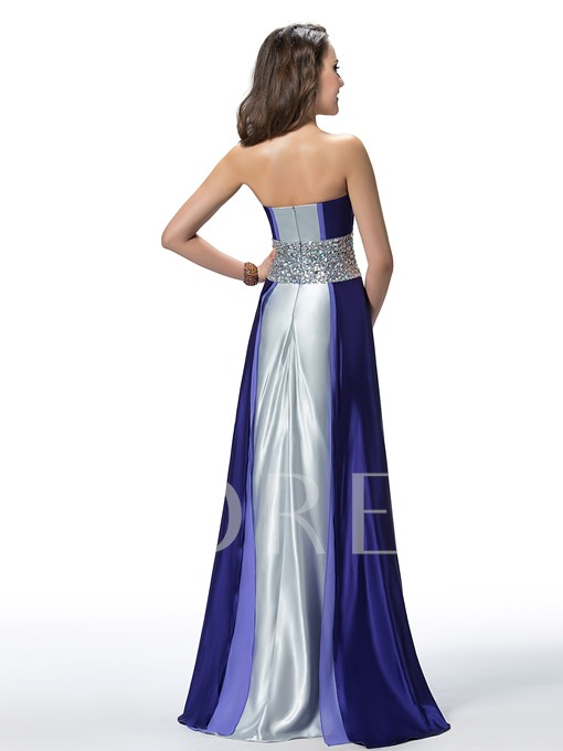 Moment With Halter Beading A-line Evening Dress