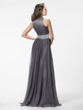 A-Line Jewel Beading Split-Front Prom Dress Designed Independently