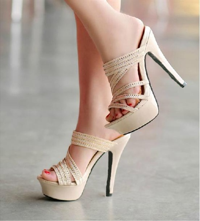 Stiletto Heel Platform Sandals