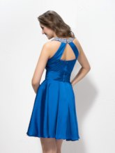 A-Line Ruffles Sequins Beading Short Prom/Cocktail Dress
