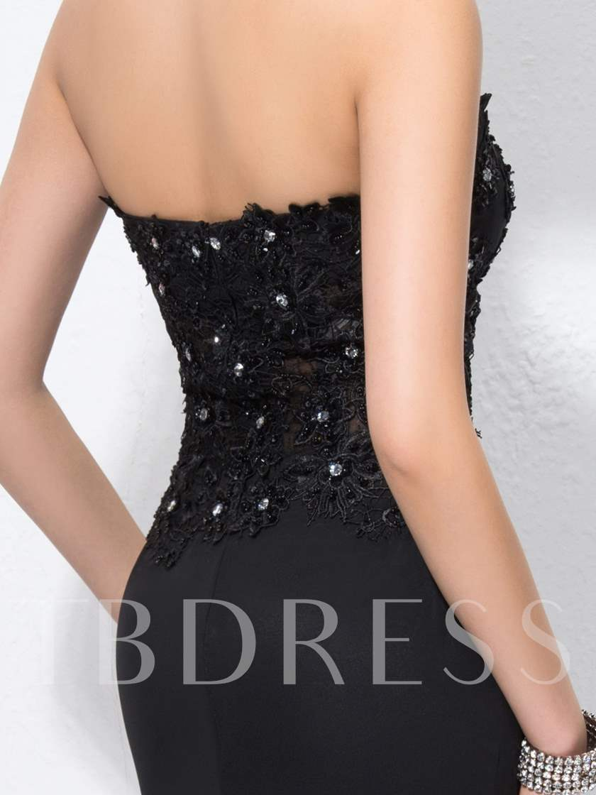 Captivating Mermaid Sweetheart Lace Split-Front Court-Train Evening Dress