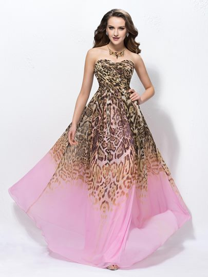 A-line Floor-length Sweetheart Neck Prom Dress