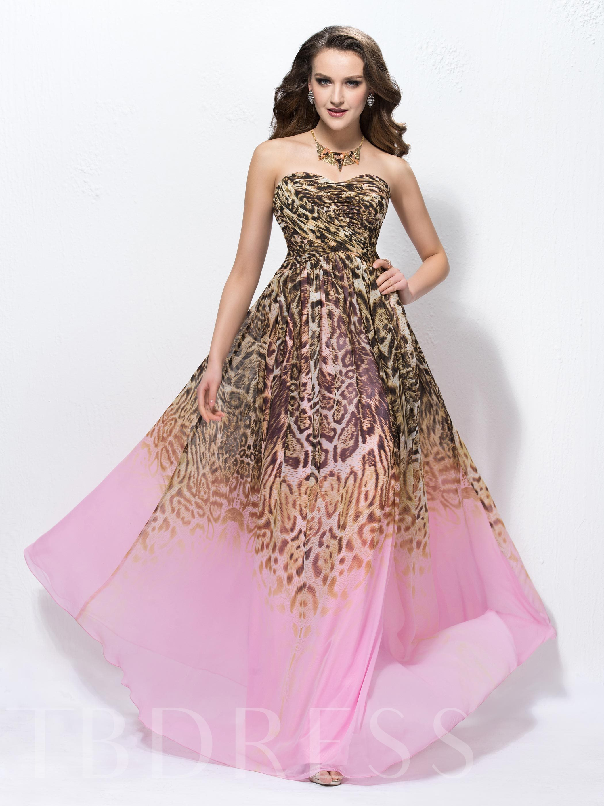 Image of A-line Floor-length Sweetheart Neck Prom Dress