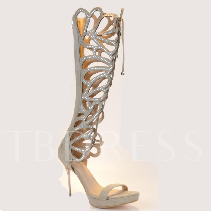 Hollow Stiletto Heel Women's Sandals