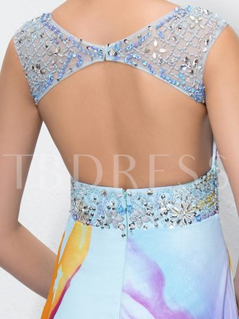 A-Line Beading Sequins Bateau Prom Dress Designed Independently