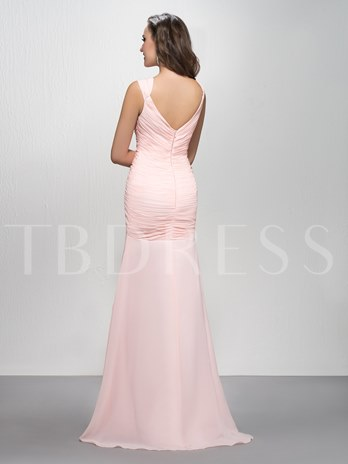 Trumpet/Mermaid Sequins Straps Ruched Zipper-Up Evening Dress