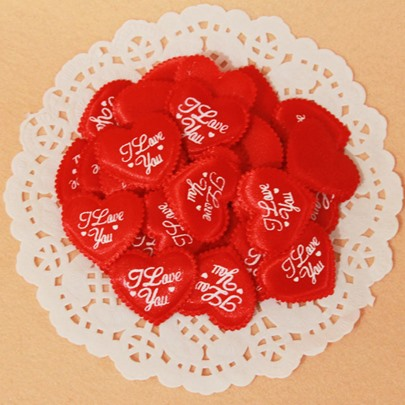 Red wedding Peach Heart Solid Petals