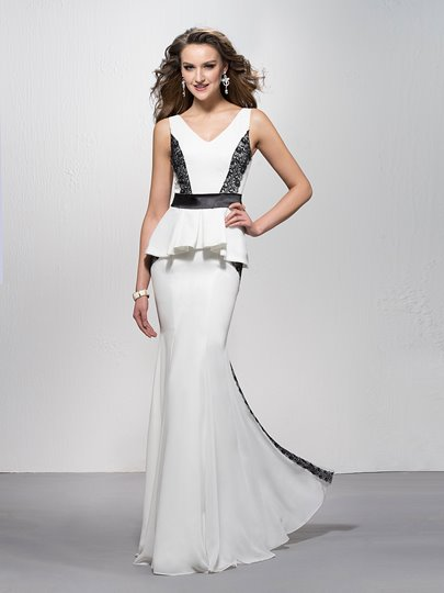 Trumpet/Mermaid V-Neck Lace Sleeveless Zipper-Up Evening Dress