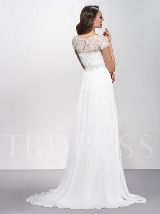 Appliques Jewel Floor-Length Evening Dress