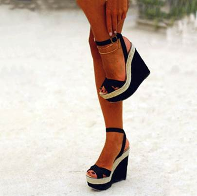 Strappy Wedge High Heel Open Toe Women's Sandals