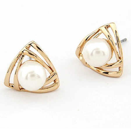 Alloy European Geometric Birthday Earrings