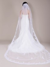 Applique Chapel Wedding Veil