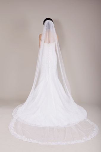 Chapel Length Lace Wedding Veil