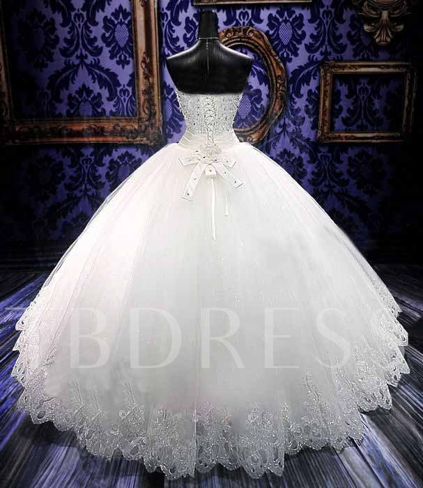 Ball Gown Appliques Bowknot Wedding Dress