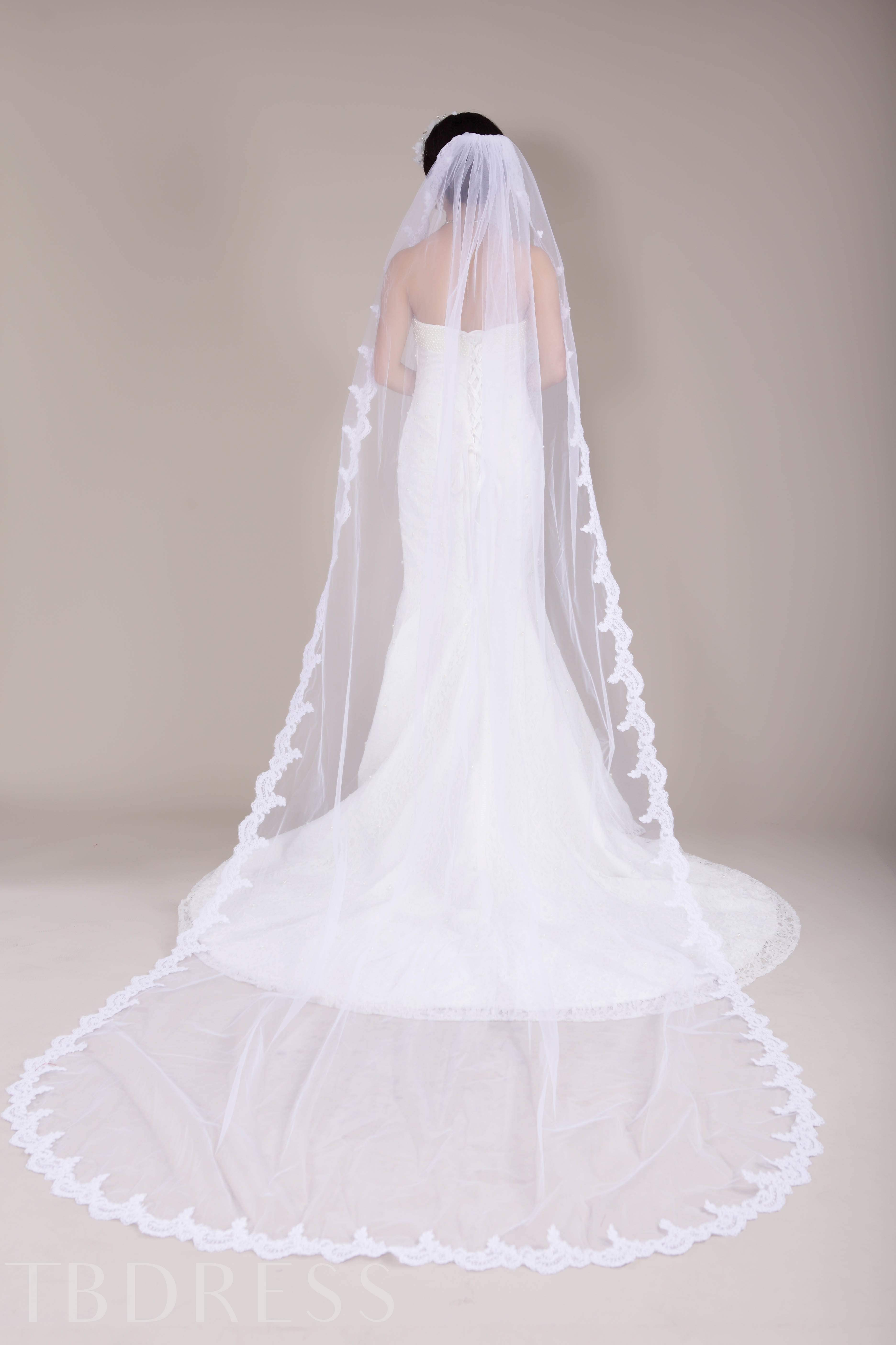 Lace Edge Chapel Wedding Veil