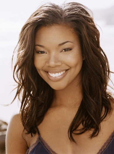 Gabrielle Union Long Wavy Brown Human Hair Full Lace Wigs 16 Inches