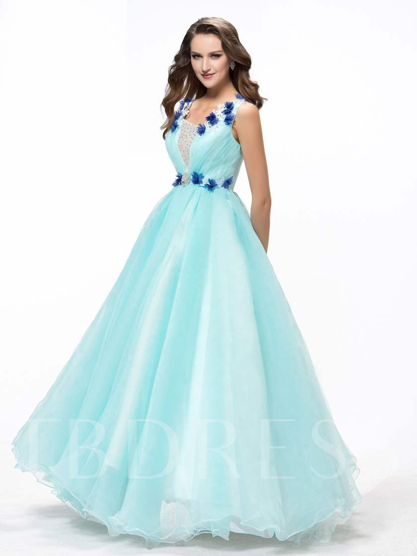 Ball Gown Flowers Beading Quinceanera Dresses