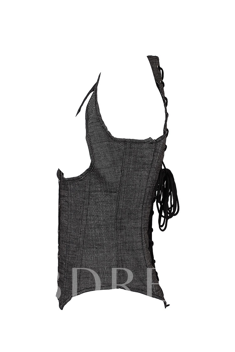 Lace-Up Underbust Close-Fitting Corset