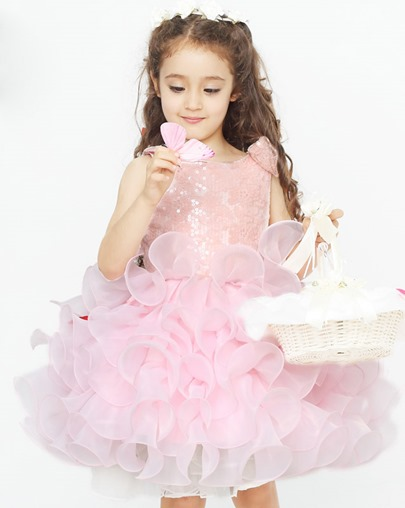 Ball Gown Ruffles Short Flower Girl Dress